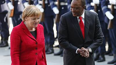 Kenyatta meets Merkel in talks to strengthen bilateral ties