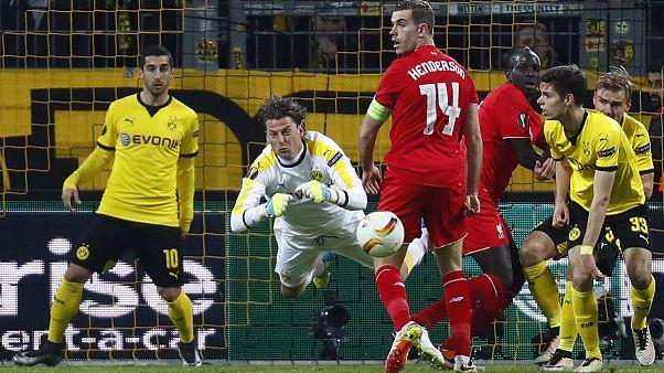 لیگ فوتبال اروپا؛ دورتموند و لیورپول امتیازات را تقسیم کردند