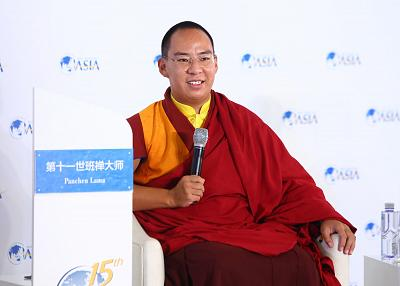 The Panchen Lama who was installed by the Chinese government attends an event in 2016.