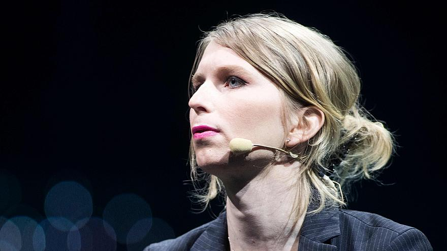Image: Former U.S. soldier Chelsea Manning speaks during the C2 conference