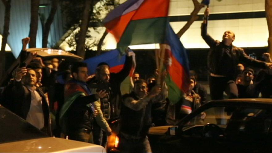Baku residents take to the streets to show support amid Nagorno Karabakh conflict