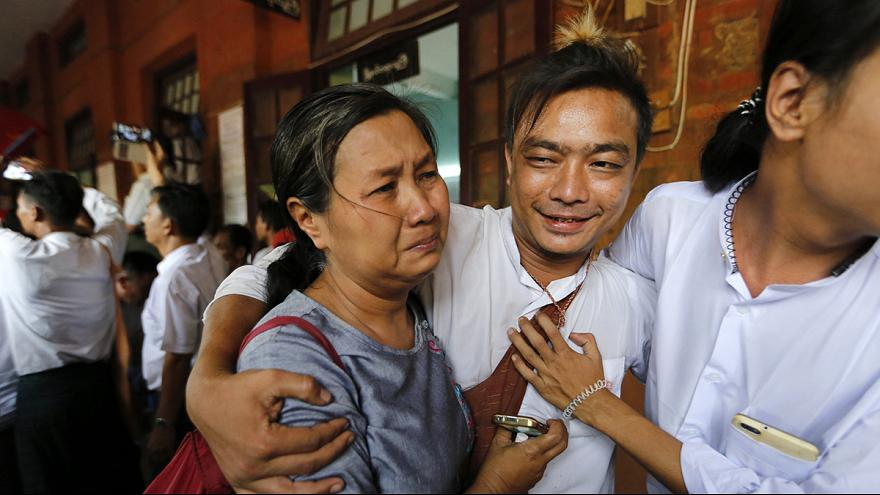 Dozens of political prisoners released in Myanmar