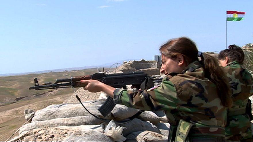 Курдские женщины на передовой