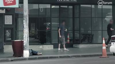 Collapsed Man (New Zealand Police Recruitment )
