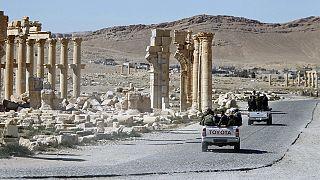 Italian architects reconstructing Palmyra's Triumphal Arch
