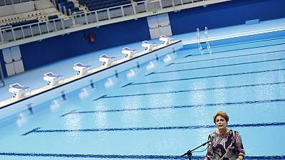 Brazil: Embattled Rousseff inaugurates Rio 2016 aquatic stadium