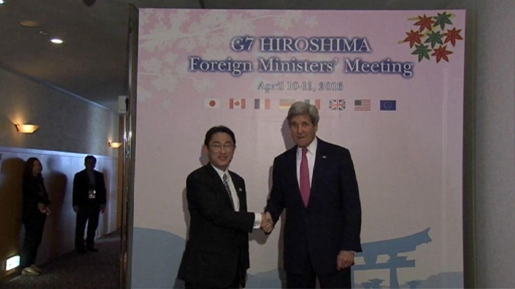 G7 : la visite historique de John Kerry à Hiroshima