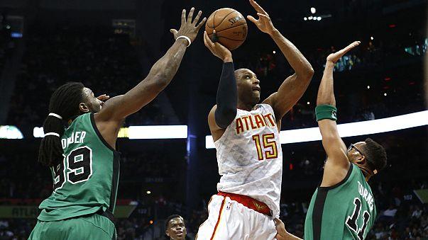 NBA Playoffs in Sicht - Atlanta Hawks schlagen die Boston Celtics