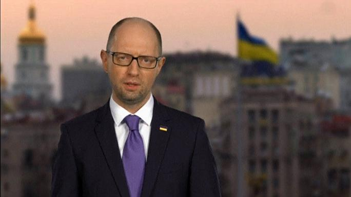 Felajánlotta lemondását az ukrán kormányfő