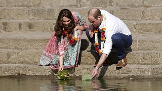 Britain's Prince William and his wife Kate visit India