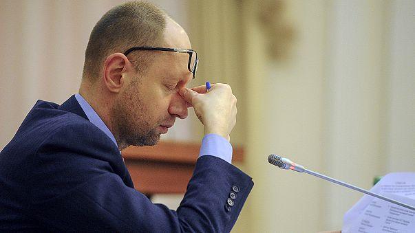 Les Ukrainiens apprennent la démission du Premier ministre Arseni Iatseniouk