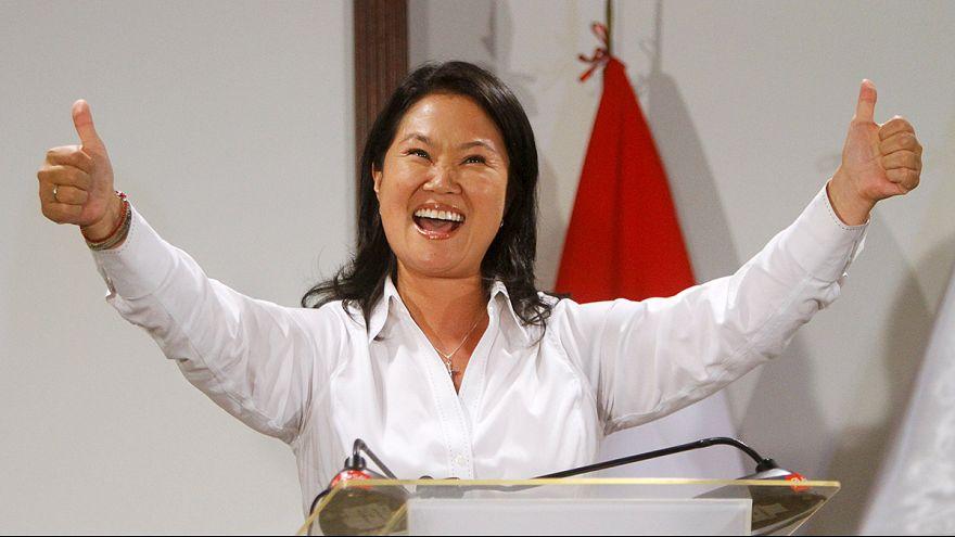 Peru'daki Devlet Başkanlığı seçiminin ilk turunda zafer Fujimori'nin