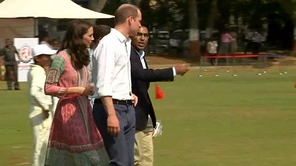 Royal afternoon at the Oval