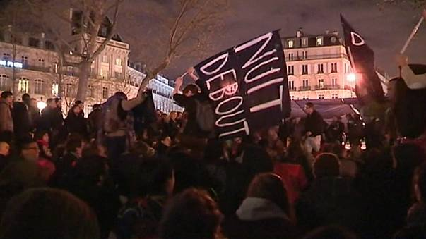 Police clear Paris protest camp but 'Up All Night' movement vows to return