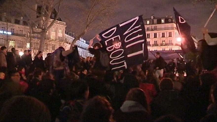 Полиция разогнала манифестантов с площади Республики в Париже