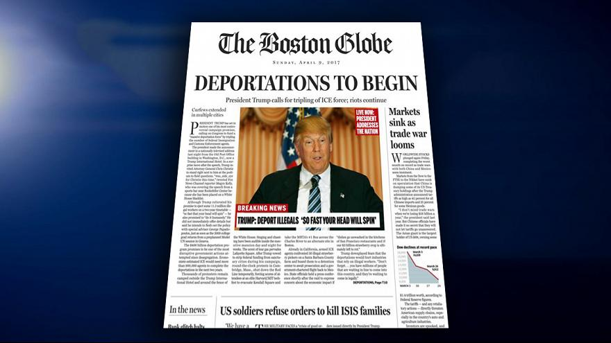 Boston Globe warnt: Wenn Trump an der Macht wäre...