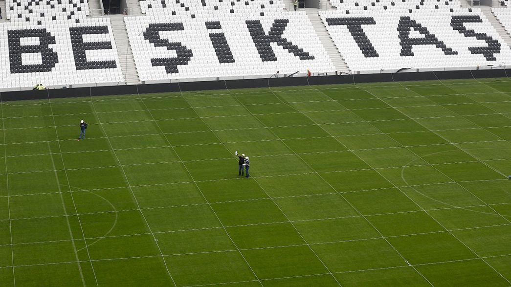 """Без болельщиков: в Стамбуле открыли новый стадион """"Бешикташа"""""""