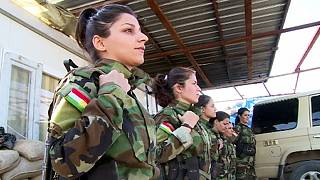 Life on the frontline for one Peshmerga woman soldier facing jihadist fighters
