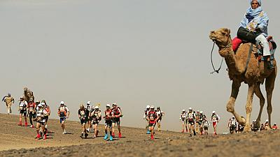 Morocco Marathon Des Sables: Runners brave the dunes in Stage 2