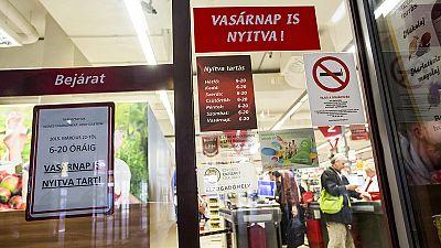 Hungary does U-turn over Sunday trading ban