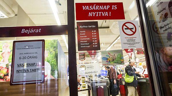 Венгрия: отменён запрет на работу магазинов в воскресенье