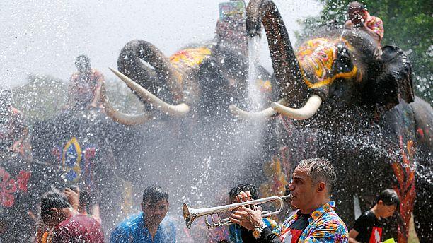 Thailand celebrates the Songkran water festival