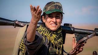 Kurdish female fighters intensify anti-ISIS combat