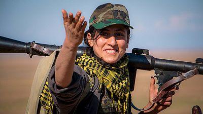 Kurdish female fighters intensify anti-ISIS combat