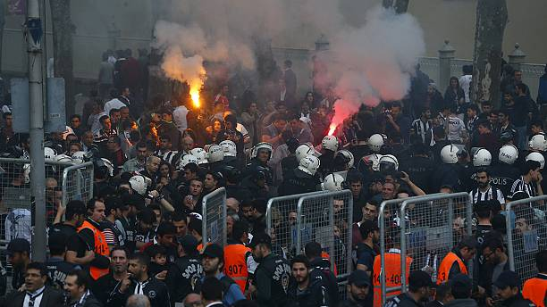 Besiktas' first game at new stadium overshadowed by fans being tear-gassed