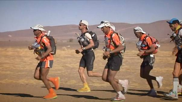 El Morabity on track for third straight Marathon des Sables title