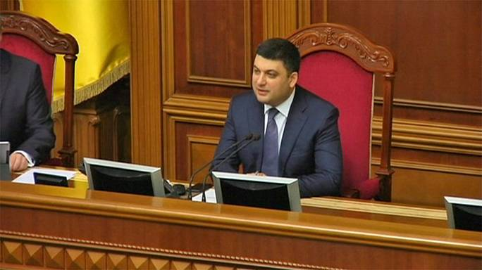 Ukraine's parliamentary speaker gets key backing for job as PM