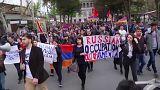 Bakunak szállított fegyverek miatt tüntettek Oroszország ellen Jerevánban