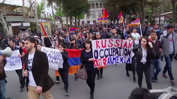 В Ереване прошла антироссийская акция протеста