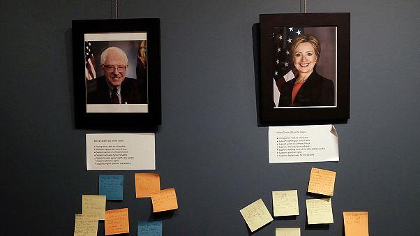 دموکرات ها در انتظار مناظره کلینتون و سندرز در نیویورک