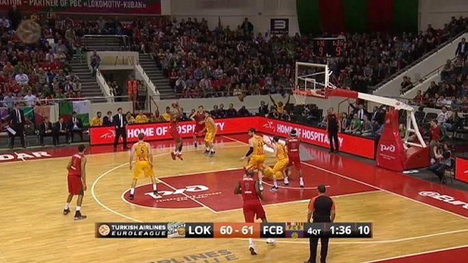 الدوري الأوروبي لكرة السلة: فوز لوكوموتيف كوبان الروسي ضد برشلونة
