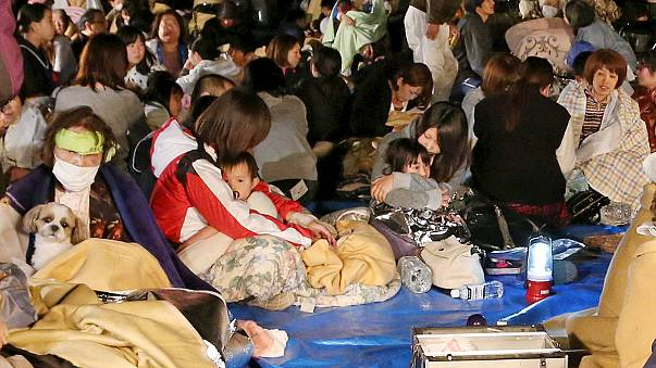 Földrengés és utórengés Japánban