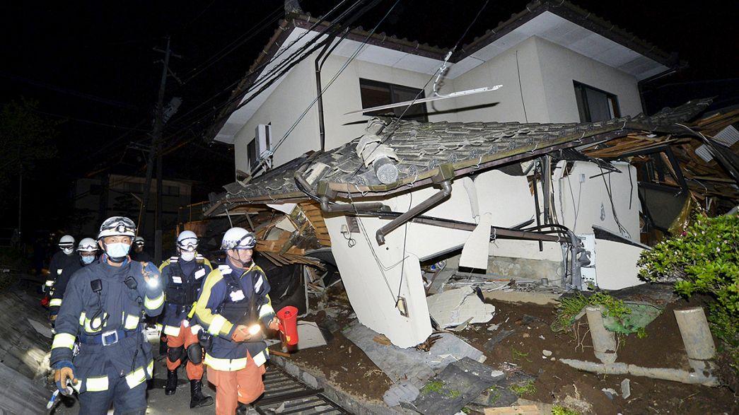 Forti scosse di terremoto in Giappone, almeno 9 vittime e centinaia di feriti