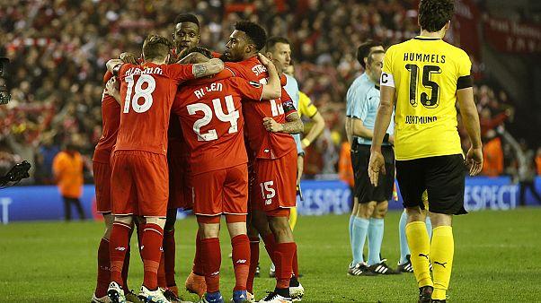 الدوري الأوروبي: ليفربول يحدث المفاجأة و يتأهل إلى المربع الذهبي على حساب بوروسيا دورتموند