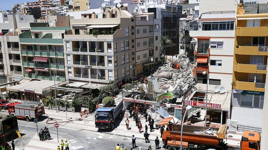 Espanha: Colapso mortal de edifício em Tenerife