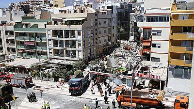 Al menos un muerto y nueve desaparecidos tras el derrumbe de un edificio en Tenerife