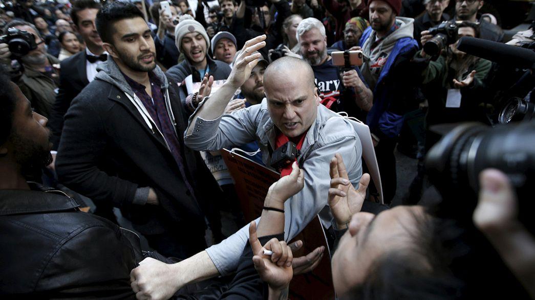 Donald Trump New York'ta protesto edildi