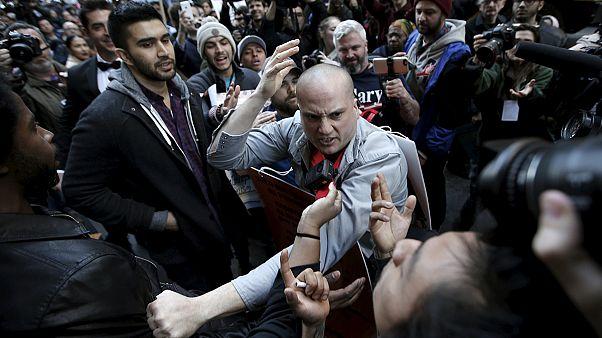 New-York : Donald Trump accueilli par des manifestants