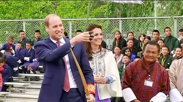 Kate e William no reino do Butão