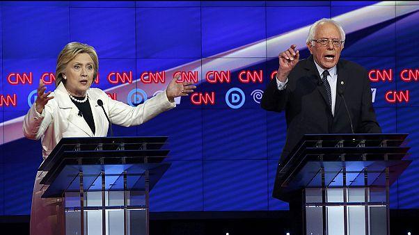 Primaires démocrates : débat tendu entre Clinton et Sanders