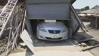 Japan nach dem Erdbeben auf Kyushu