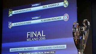 UCL Semis Draw: Man City draw Madrid, Atletico play Bayern