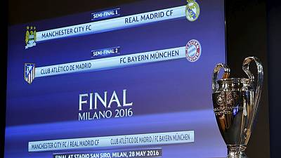 UCL Semis Draw: Man City draw Madrid, Atletico play Bayern