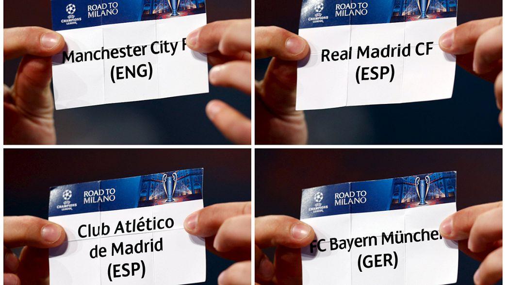 Champions, semifinali: City-Real e Atletico-Bayern