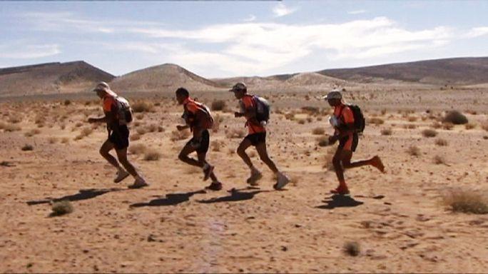 Çöl Maratonu'na Faslı sporcular damga vurdu