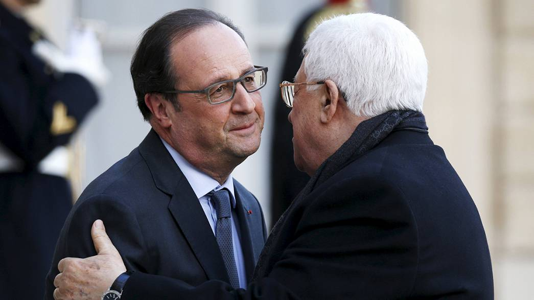 Hollande se reúne con Abás antes de su viaje a Oriente Medio
